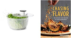 OXO Good Grips Salad Spinner, Large & Chasing Flavor: Techniques and Recipes to Cook Fearlessly