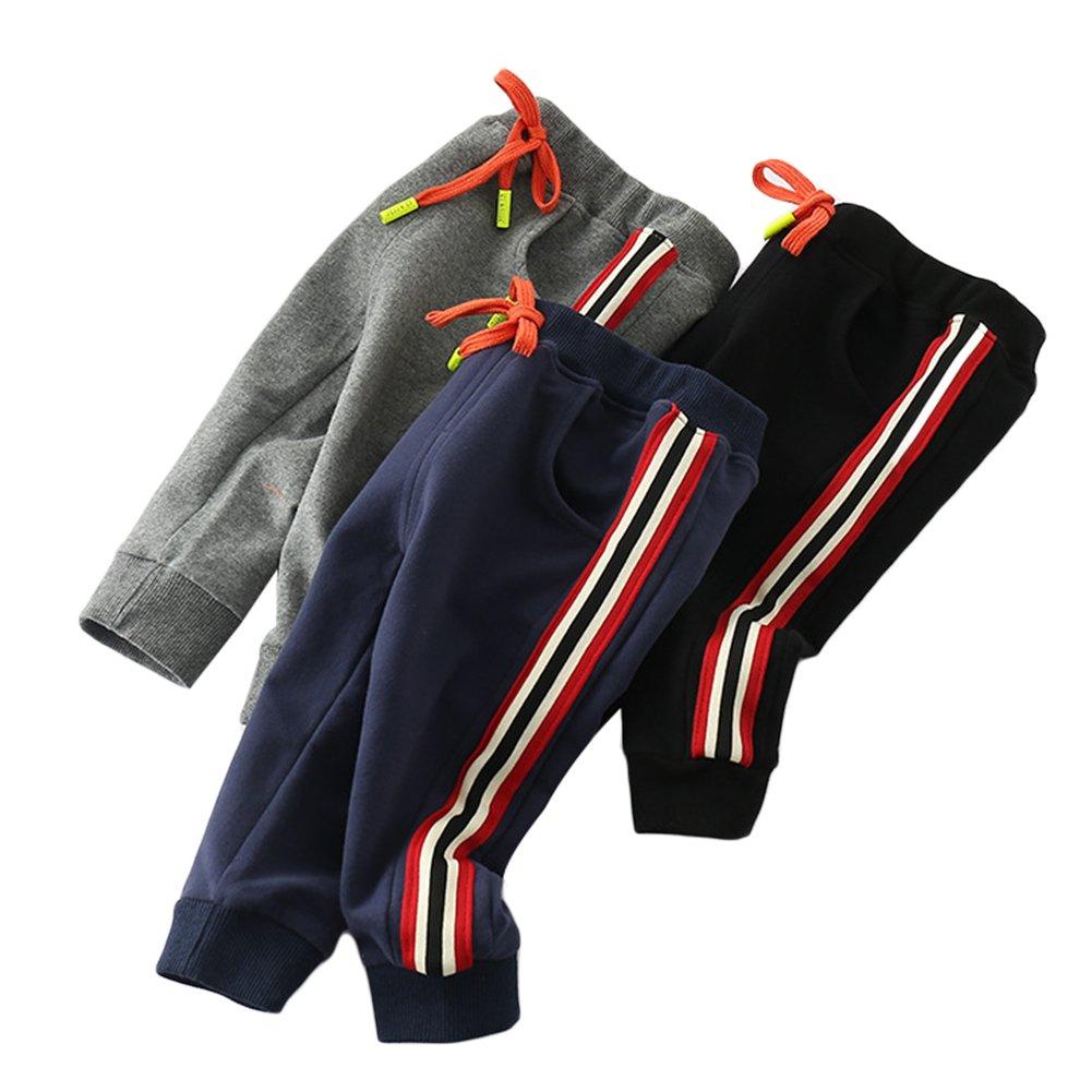 Happy childhood PANTS ベビーボーイズ Size 80: 70cm height(6-12 months) ブラック B07FYBJPD8