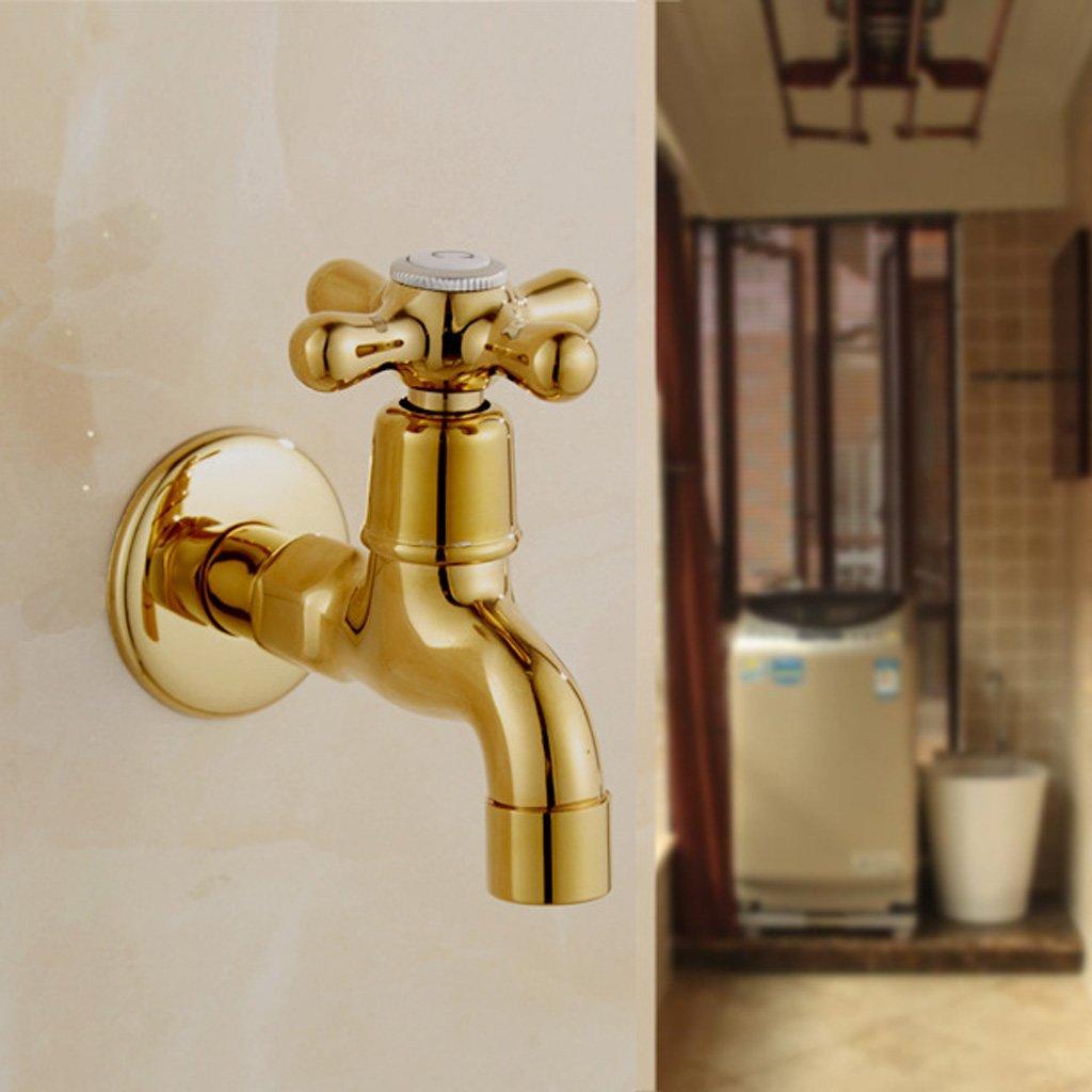 # 2 Gold G1//2  Wand Einhebel Sp/ültisch Wasserhahn f/ür Waschtischarmatur oder Waschmaschine