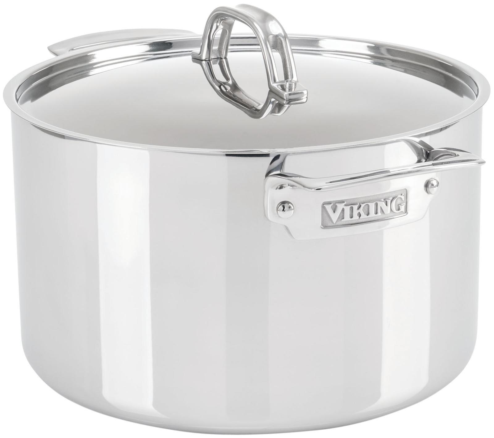 Viking 3-Ply Stainless Steel Stock Pot, 8 Quart