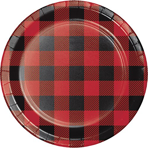 Buffalo Plaid Dessert Plates, 24 ct -