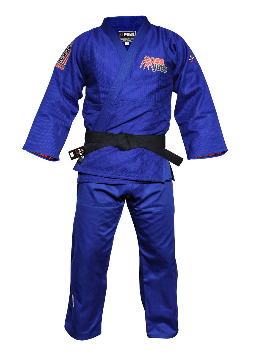 FujiスポーツDouble Weave USA Judo Gi ブルー Size 5
