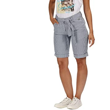 215c37b56a8a2 Regatta Samarah Short Femme, Ticking Stripe, FR : 2XL Fabricant : Taille 20