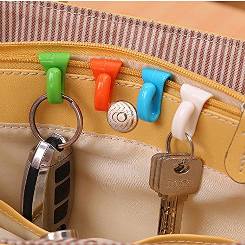 (♛Euone Key Hanger ♛Clearance♛, 6pcs Hangers Key Ring Chain Holder Hook Handbag Shoulder Bag Organizer Tools)