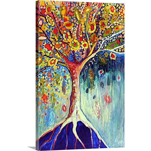 Fiesta Tree Canvas Wall Art Print, 24