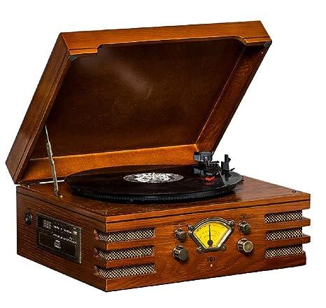 VISTANIA Reproductor de Discos de Vinilo de Audio con Tapa ...