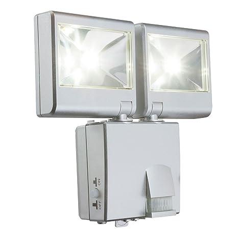 pared exterior de la lmpara LED Spots reflectores mvil radiador IP44 movimiento de la batera operada
