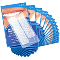 Anjou Teeth Whitening Strips, Professional Whitestrips Kit 3D Dental Teeth Whitener for Remove Stains, Freshen Breath with Mint Flavor, 14 Sets 28 Pieces (14 day Course)