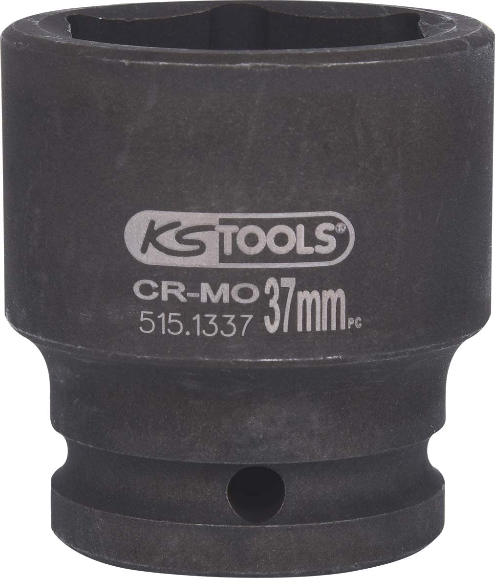 22mm KS Tools 515.1322  Hexagon impact socket short 3//4