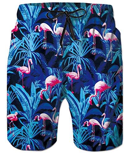 Mens Big & Tall Swim Trunks Tropical Hawaiian Flamingo Beachwear Surfing Board Shorts Bathing Suits for Men Male Boy Quick Dry Swim Shorts with Mesh Lining,Medium,Flamingo]()