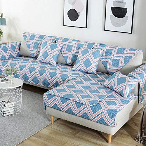 LAZ Couch Cover, Sofa Cover Couch Covers Sectional Anti-Slip Sofa Slipcover for Dogs Cats Pet Love Seat Recliner (Sold by Piece/Not All Set) (Color : F, Size : 90x160cm(35x63inch))