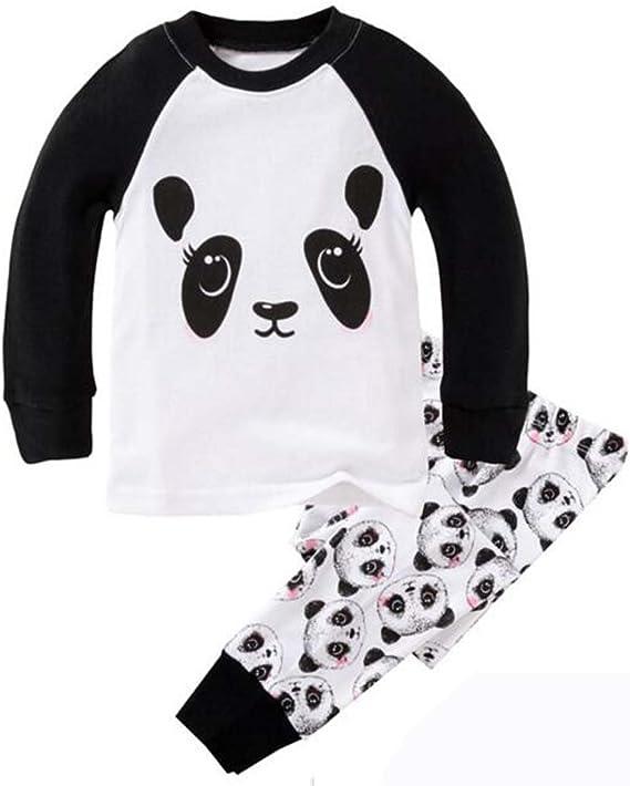 Girls Barely Awake Panda Long Pyjamas Black and White 9 to 16 Years