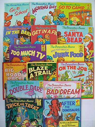 Berenstain Bears First Time Book Series (Set of 15) School, Moving, Camp, Dark, Fight, Santa Bear, TV, Junk Food, Road Race, Blaze Trail, On Job, Double Dare, Bad Dream, Trick or Treat, After Dinosaur (Berenstain Bears Dark)