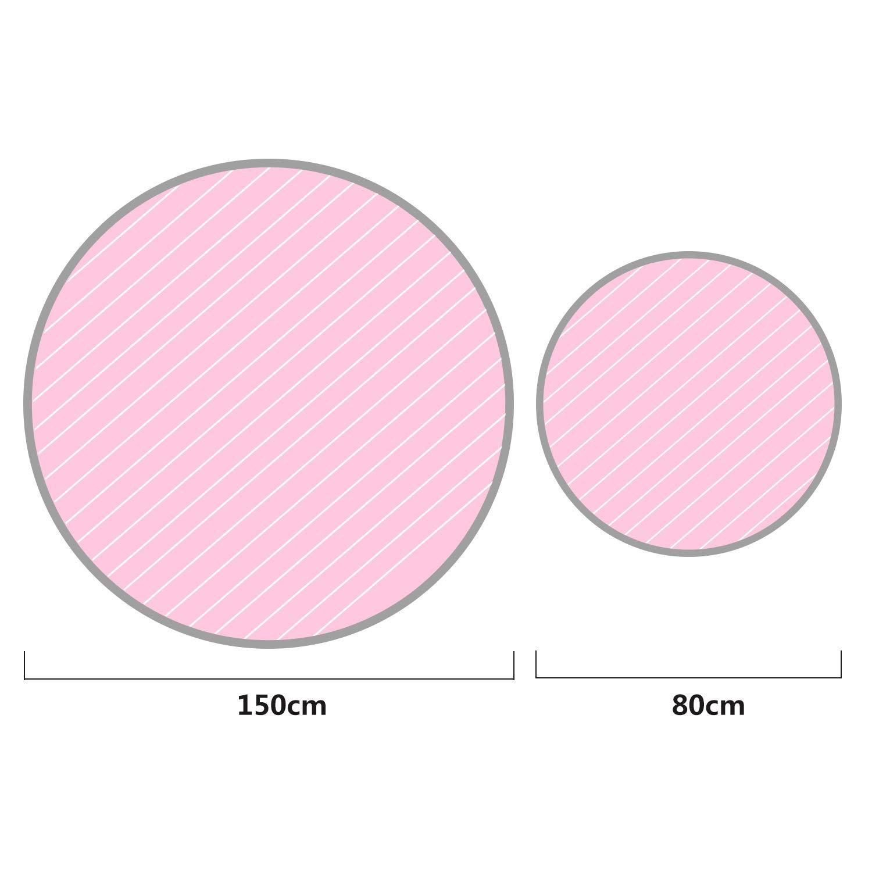 Youth Union Kinder Spielmatte Aufr/äumsack Spieldecke Spielzeug Speicher Tasche Round Matte Ideal f/ür das schnelle Aufsammeln von Aufbewahrung Beutel Spielze gr/ün, 150cm