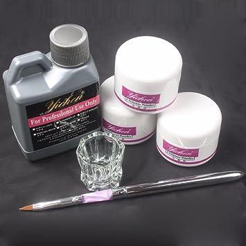 Ularma Pro Simply Nail Art Kits Acrylic Liquid Powder Pen Dappen