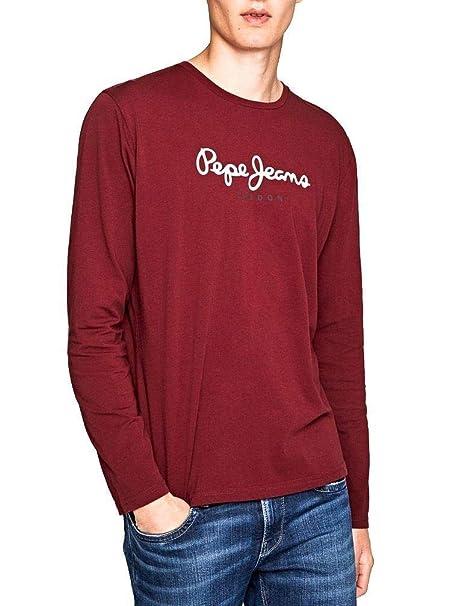 Pepe Jeans Camiseta Eggo Granate para Hombre.: Amazon.es: Ropa y ...