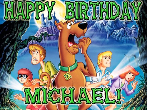 Scooby-Doo 1/4 Sheet Edible Photo Birthday Cake Topper. ~ Personalized! -