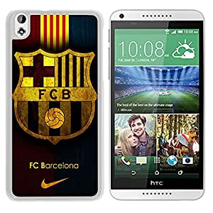 Host Sale HTC Desire 816 Case ,Fashion And Durable Designed With Fc Barcelona White HTC Desire 816 Cover