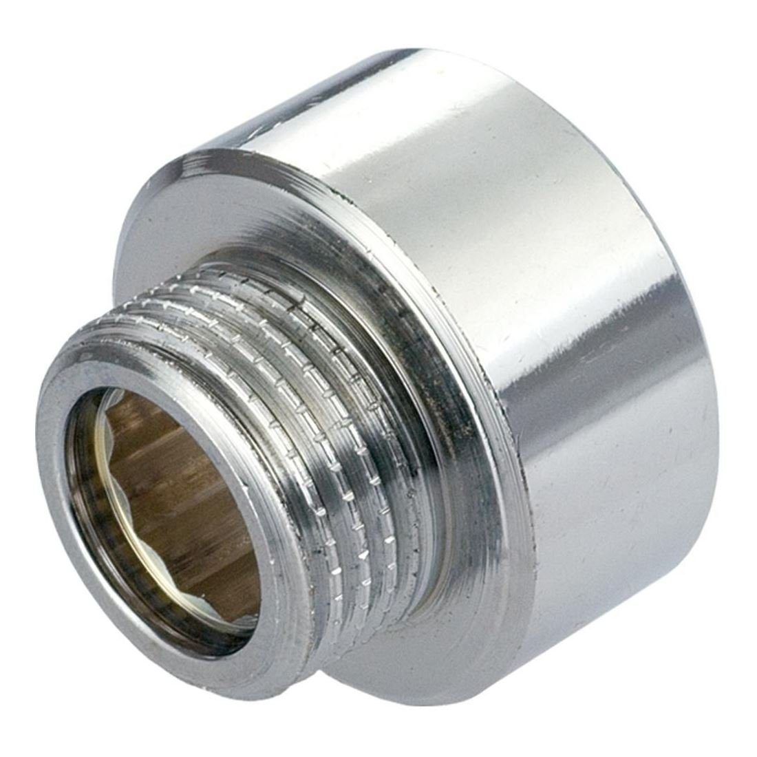 Round Female x Male Pipe Connection Reduction Fittings Chrome 3/4' x 1/2' BSP Invena