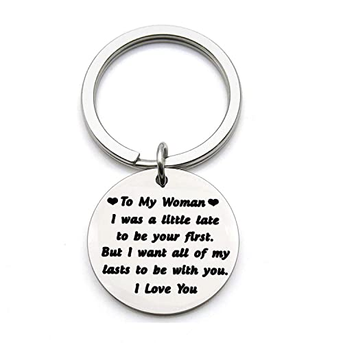 Amazon FUSTYLE To My Woman Keychain Wife Girlfriend Jewelry Gift I Was A Little Late Be Your First Valentines Day Birthday For Her