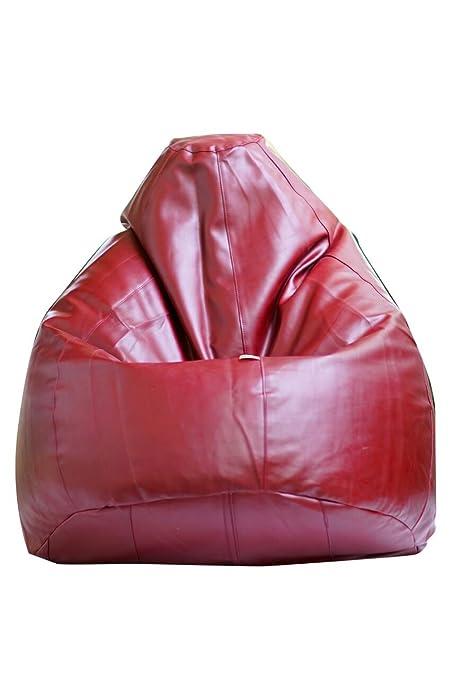 Beanskart XXL Size Premium Bean Bag With Beans Maroon