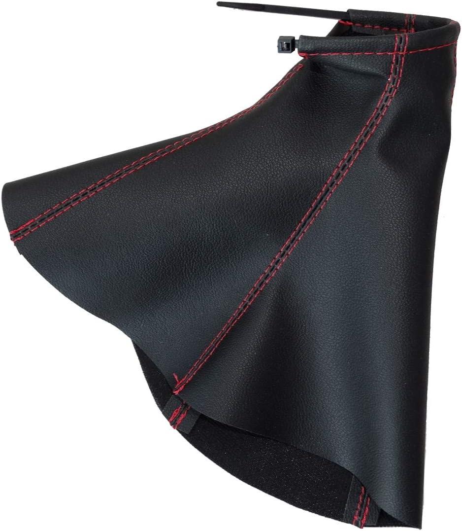 Funda para palanca de cambios de piel sint/ética con costuras de colores variables gris oscuro AERZETIX