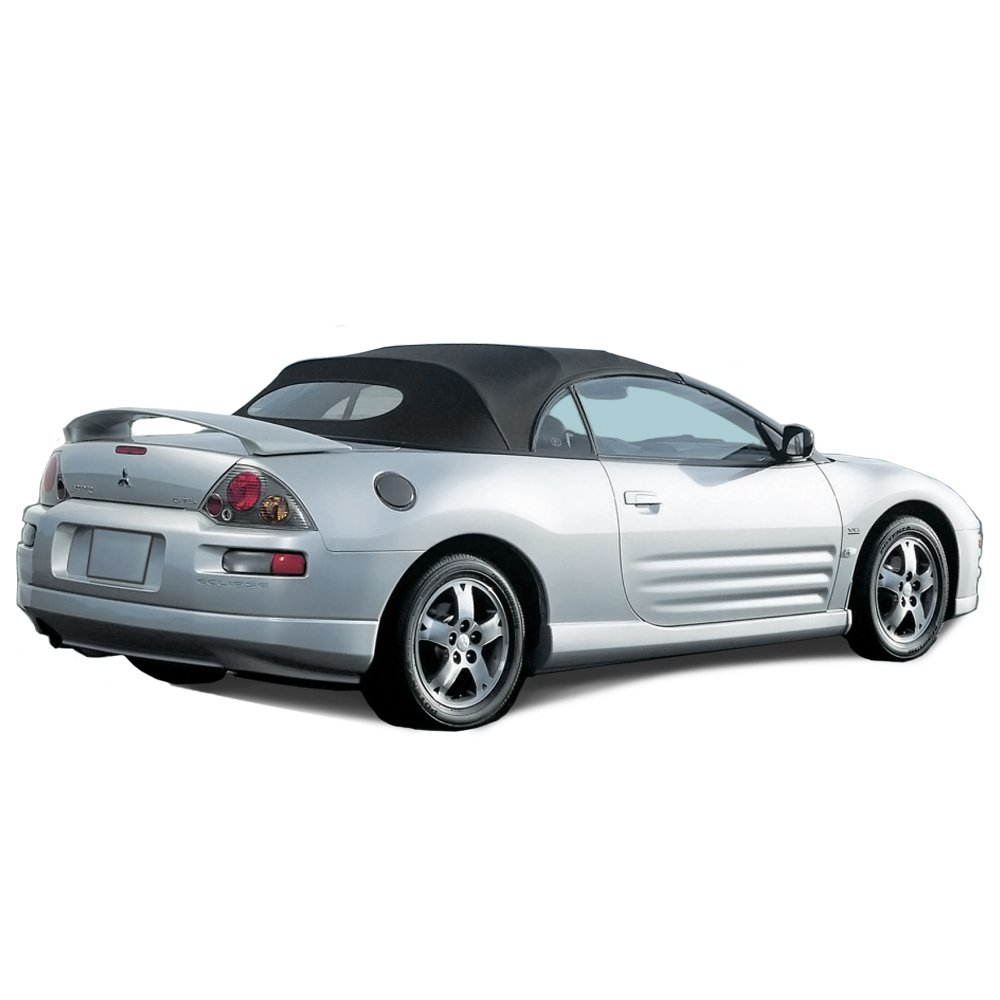 Mitsubishi Eclipse Spyder Convertible Top 2000 2005 In 2g Headlight Wiring Harness Cabrio Grain Vinyl With Heated Glass Window Black Automotive