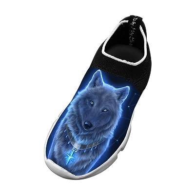 XieZbd Kids Wolves Unique Fly Knit Sneaker Shoes