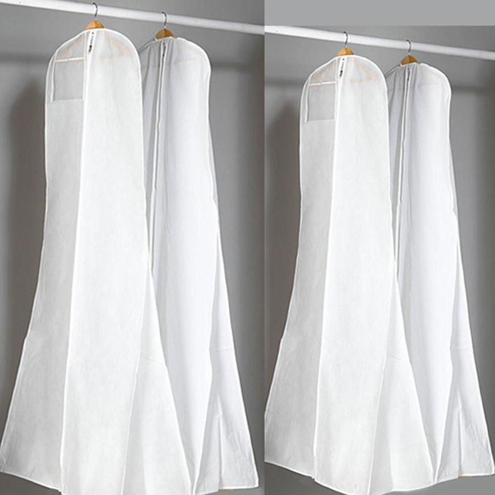 Sue Supply - Bolsa de Almacenamiento con Cremallera para Colgar Vestidos de Novia, a Prueba de Polvo, A(160 * 80 * 22cm)