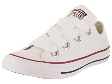 bbb14961a47 Converse Womens Chuck Taylor All Star Big Eyelets Low White Insignia Blue Garnet  Sneaker