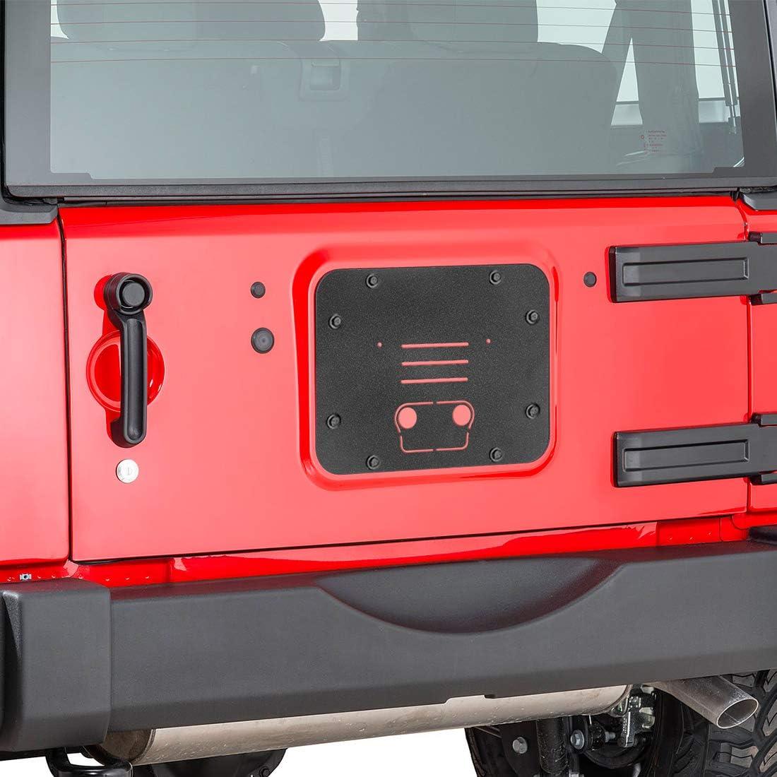 SUPAREE Spare Tire Delete Bracket for Original High Brake Light Fit for 2007-2018 Jeep Wrangler JK /& Unlimited
