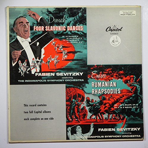 - Dvorak: Symphonic Dances / Enesco: Rumanian Rhapsodies / Fabien Sevitzky, The Indianapolis Symphony Orchestra