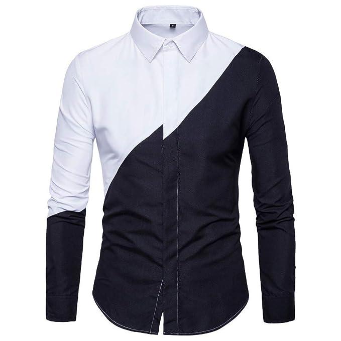 Herren Hemd Bluse Freizeithemd Formal Slim Fit Shirt Casual Langarm Hemden Top