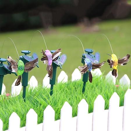 PROKTH Adornos de jardín con energía Solar Vibrantes Mariposas colibrantes pájaros al Aire Libre para Patio, decoración de Fiesta: Amazon.es: Hogar