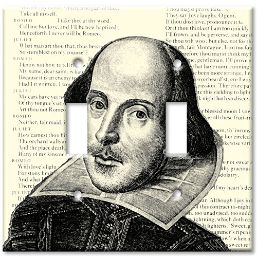 Art Plates - Shakespeare Switch Plate - Double Toggle (Switch Shakespeare)