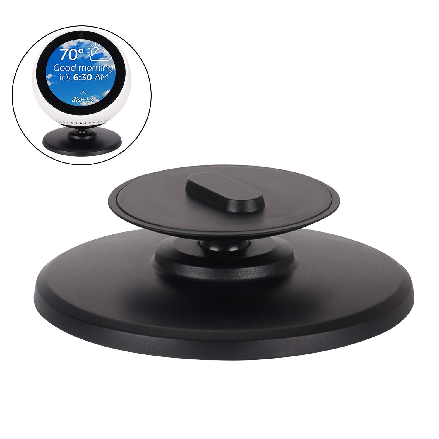 Beuya Echo Spot Adjustable Stand - Smart Speaker and Smart Alarm Clock with Alexa - Echo Spot Magnetic Base by Beuya
