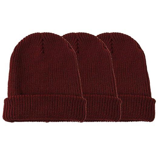 d5dbb8830 JIBIL Warm Winter Knit Beanie Hat for Men and Women, Soft Long Cuff Running  Skull Cap