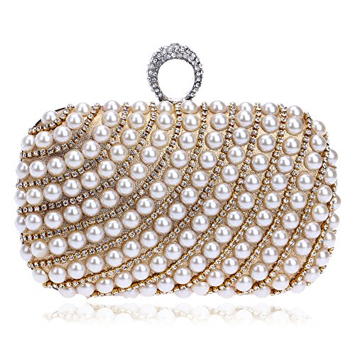Symbolove Womens Modern Top Grade Evening-handbags Exquisite Cabinet Clutch Bag For Women-C1