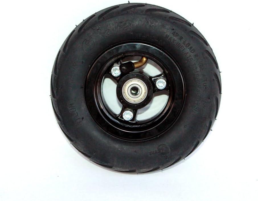 Rueda 6x2 eléctrica de la rueda de la vespa de 6 pulgadas con neumático del aire o eje sólido del metal del neumático con 608 transportes Rueda 8m m del carro de la carretilla del agujero del árbol