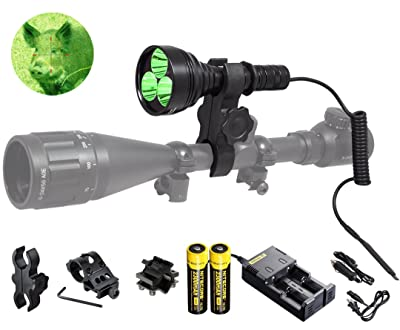 Orion M30C 377 Yards 700 Lumen Red or Green Long Range LED Hog Predator Varmint Hunting Light Flashlight Kit