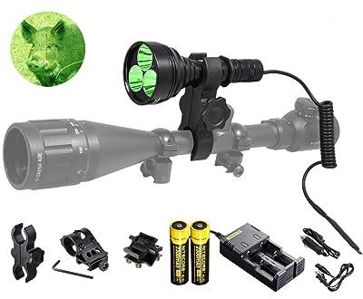 Orion M30C 377 Yards 700 Lumen Red or Green Long Range LED Hog Predator Varmint Hunting Light Flashlight Kit