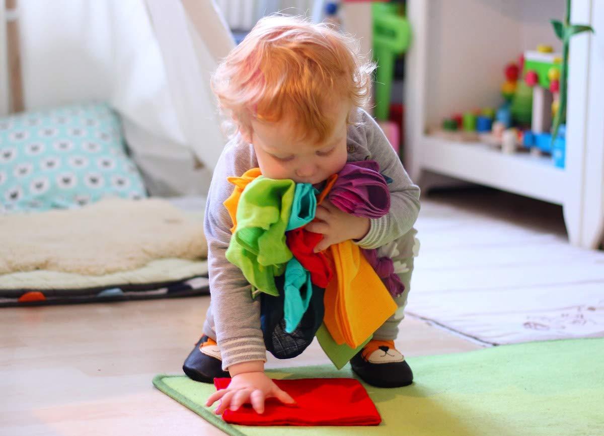 Regenbogen Mini 6er Set bunte Baby Spuckt/ücher divata 35x35 cm Mullt/ücher Oeko-Tex-Zertifiziert - kleine Mull Waschlappen aus weicher Baumwolle