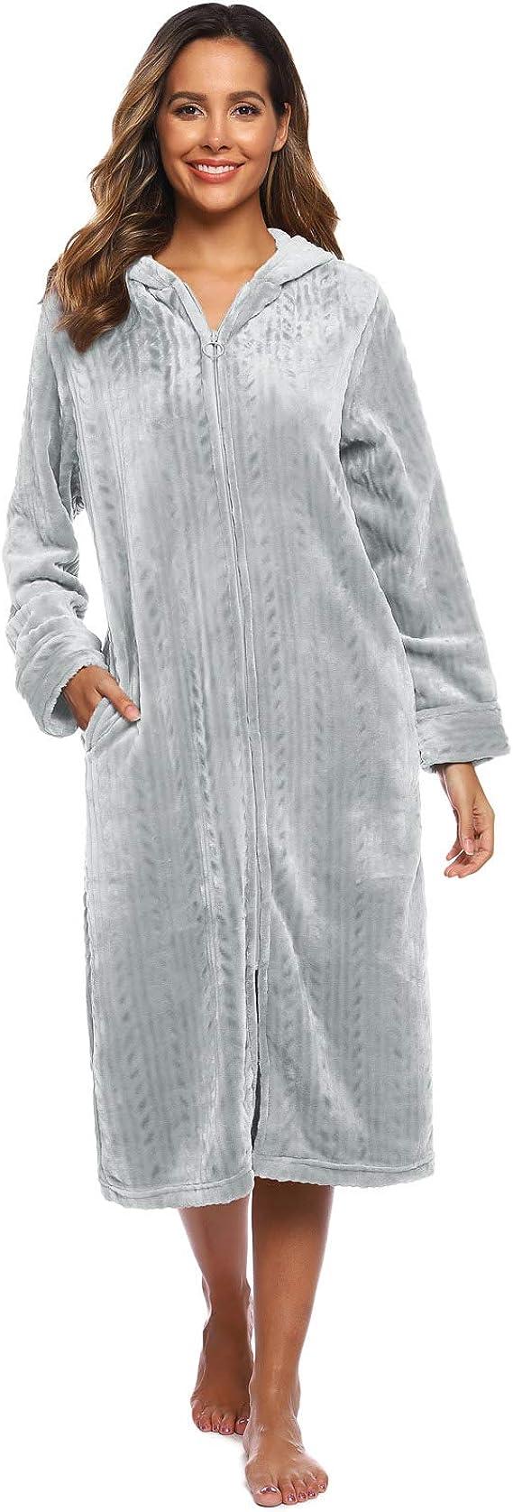 Zexxxy Peignoir Femmes Peignoir long Sauna Manteau Avec Capuche bindgürtel NEUF