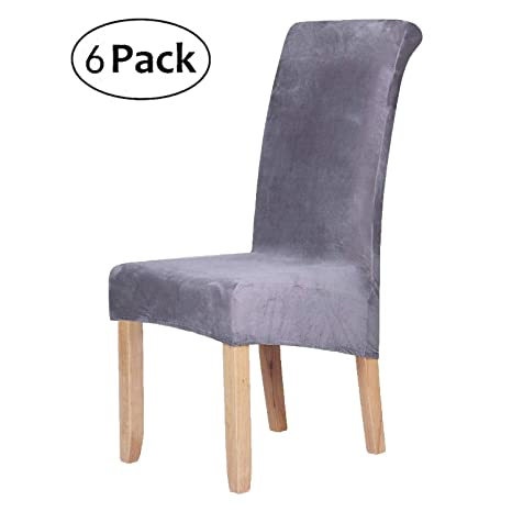 Miraculous Stretch Chair Covers For Dining Room Silver Grey Set Of 6 Velvet Large Dining Chair Slipcovers Uwap Interior Chair Design Uwaporg