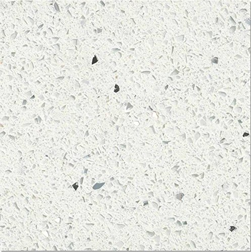 Sparkle White Prefabricated Quartz Counter top (Left Side Counter)