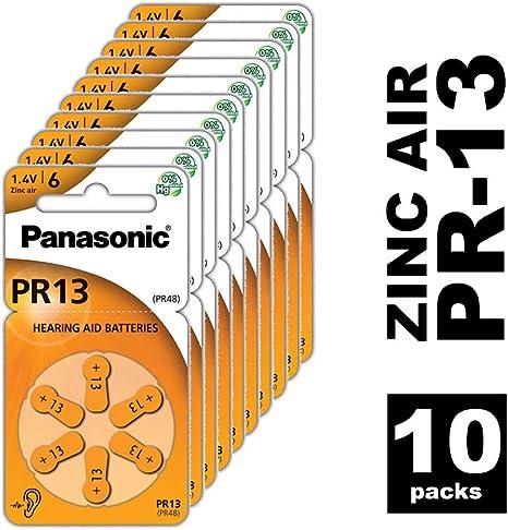 Hörgeräte-Knopfzellen 170 mAh 1,4V im 6er-Blister PR41 60x Panasonic PR312