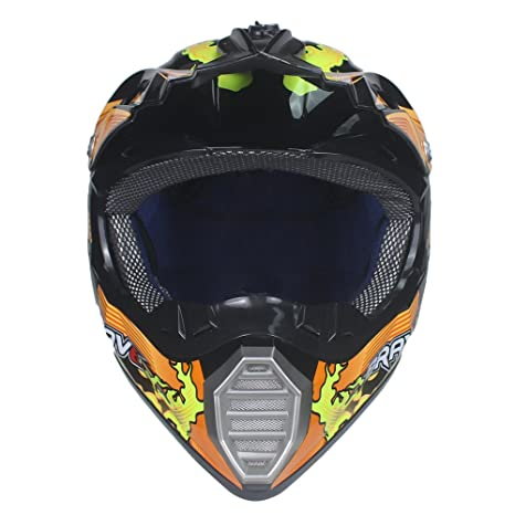 VIRTUE Motocross ATV Casco Motocicleta Casque Para Moto Casco Off Road Dirt Bike (Medium)
