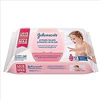 Lenço Umedecido Proteção Pele, Johnson's, 96 unidades