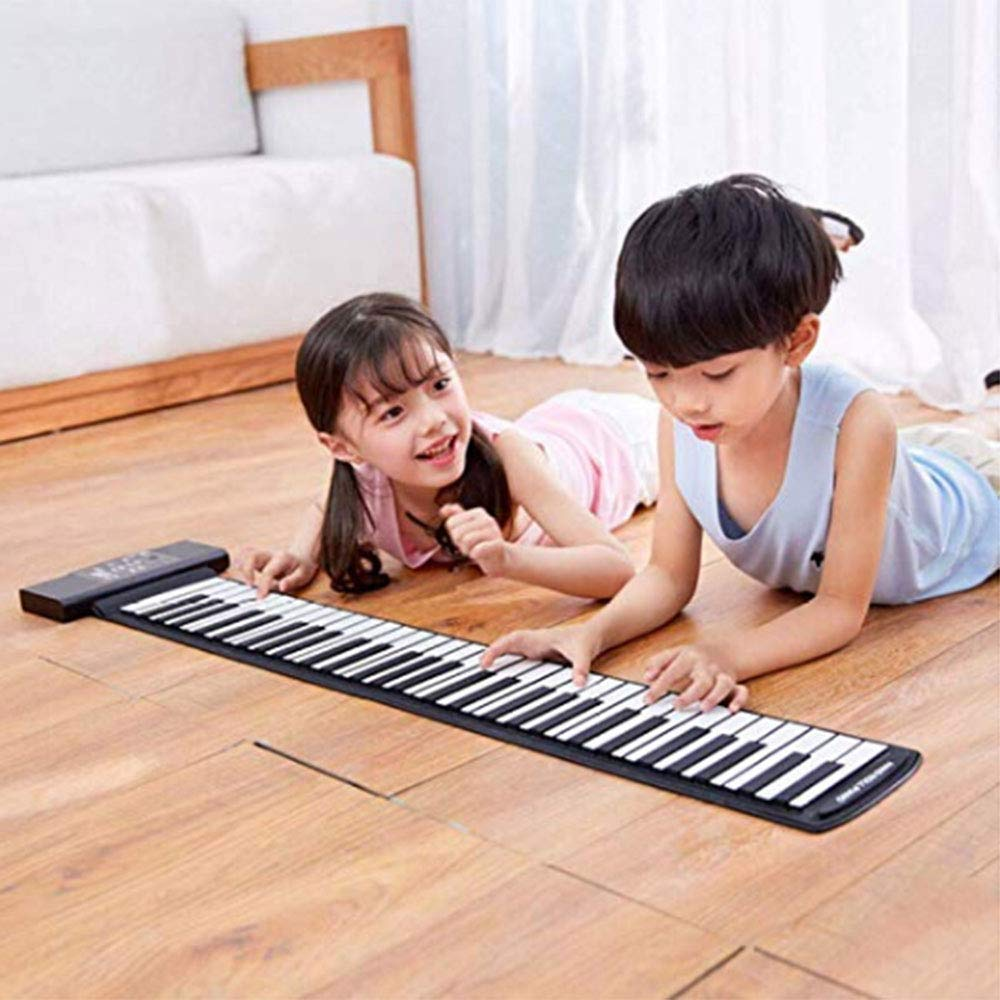 Electronic Hand Roll Piano Portable Folding 88 Keys Thickening Version Silicone Keyboard Children Adult Beginner Musical Instrument(Classic Version) by C Five (Image #6)