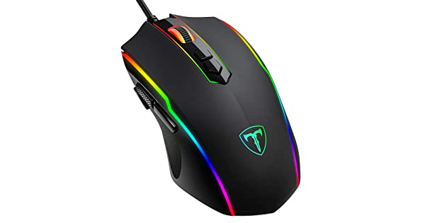 Gaming Mouse Wired 8 Programmable Buttons RGB Backlit 7200 DPI Ergonomic Optical